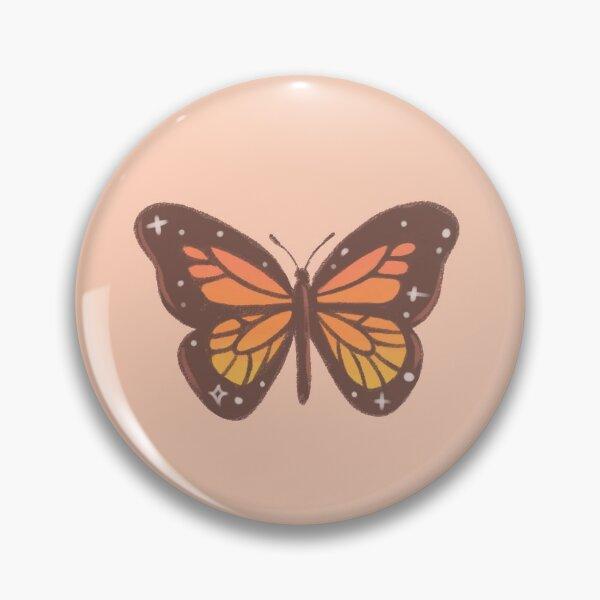 Orange Monarch Butterfly Pin