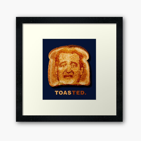 Toasted. Framed Art Print