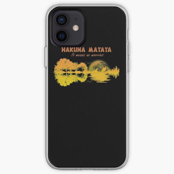 Hakuna Matata It Means No Worries Guirta iPhone Soft Case