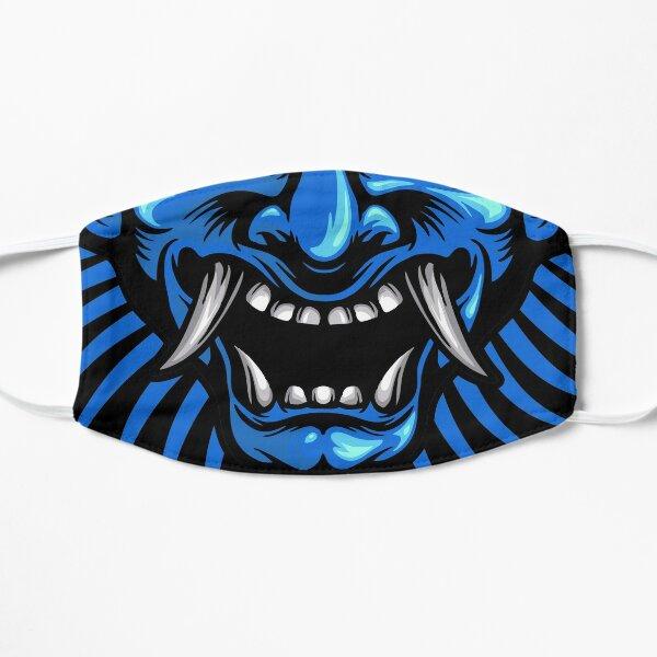 Blue Ice Japanese Oni Demon Yokai Spirit Face Masque sans plis