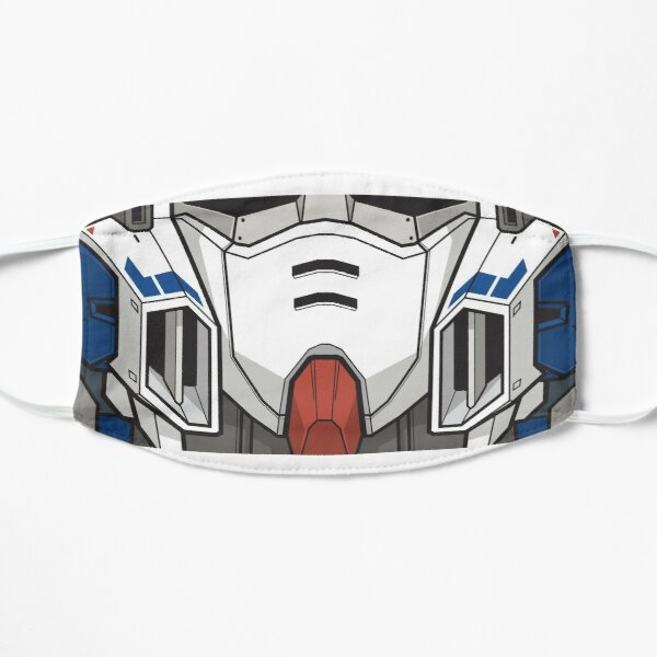 Wing Zero Custom Gundam Mask Mascarilla plana