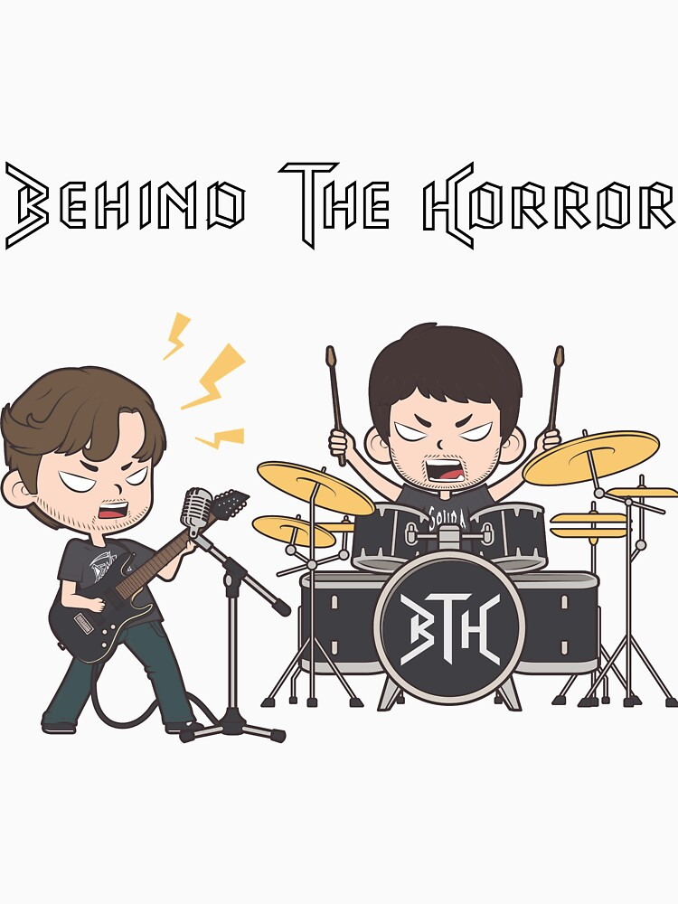 Behind The Horror Cartoon - White by BehindTheHorror