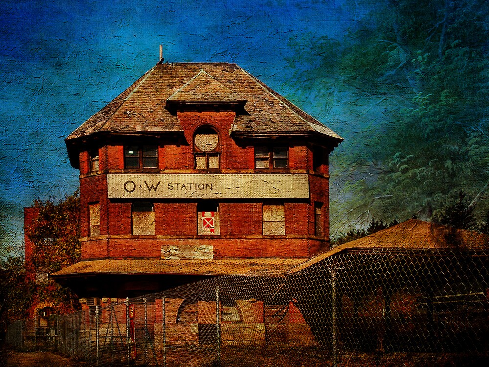 Ruins of the O&W Railroad Station by PineSinger