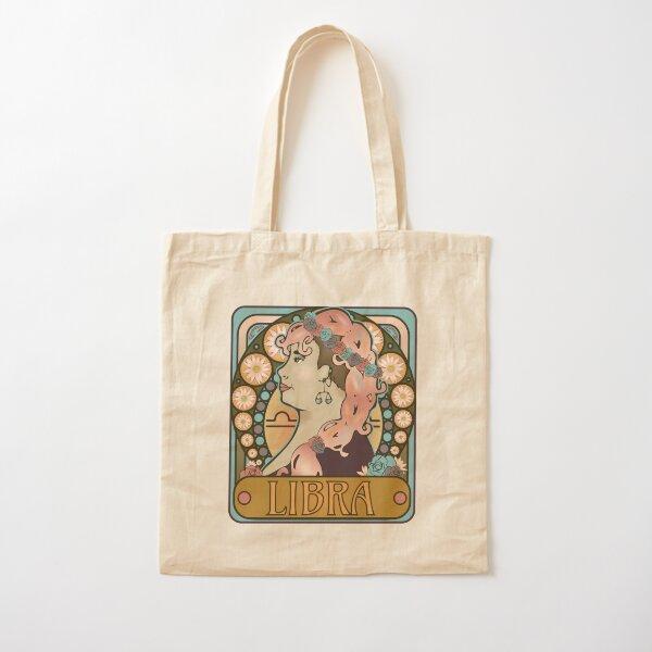 Modern Art Nouveau Horoscopses- Libra Cotton Tote Bag