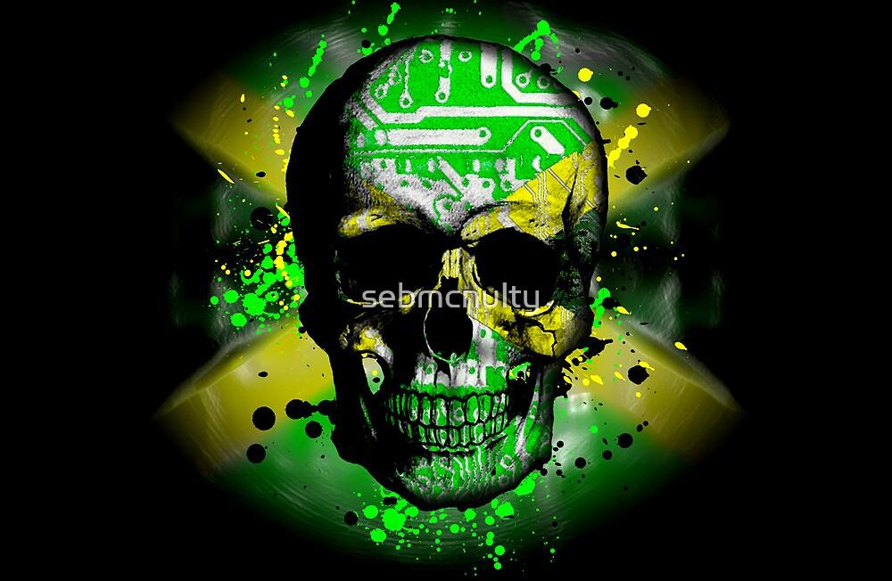 Jamaica circuit Skull. by sebmcnulty