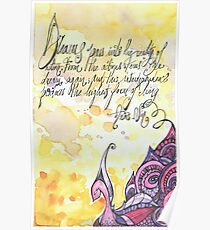 Illustrated quote, Anaïs Nin Poster