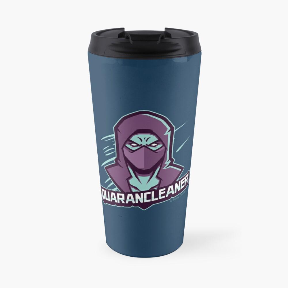 QuaranCleaner Shirt Funny Cleaning Humor and Gifts Travel Mug