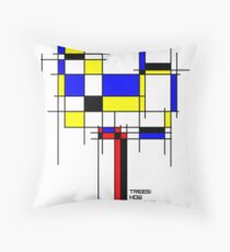 De Stijl - Trees! How Gastly! Throw Pillow