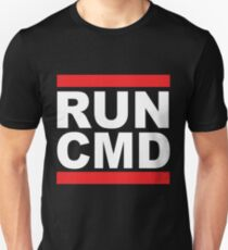 Run Command White Text T-Shirt