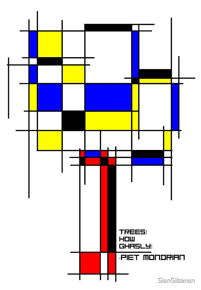 De Stijl - Trees! How Gastly! by SianGilsenan