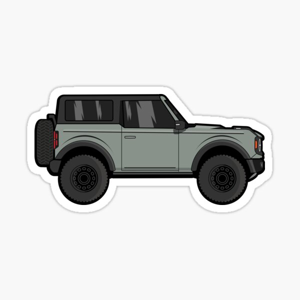 Ford Bronco - Cactus Gray Sticker