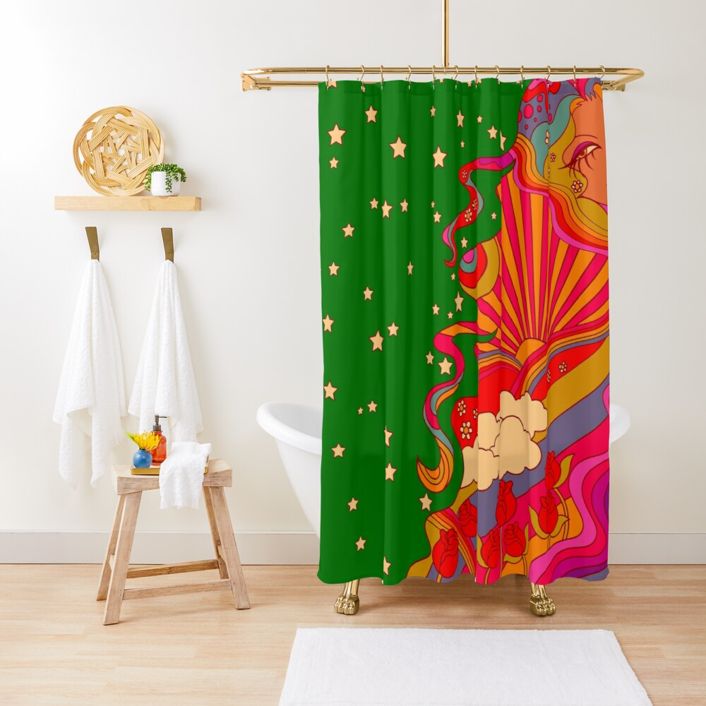 Psychedelic Lady Shower Curtain