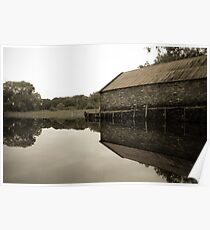 Mirror boathouse Poster