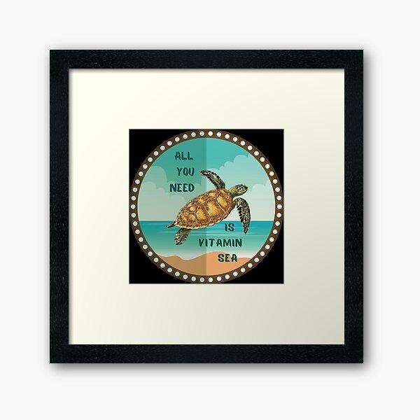 All you need is vitamin sea Framed Art Print