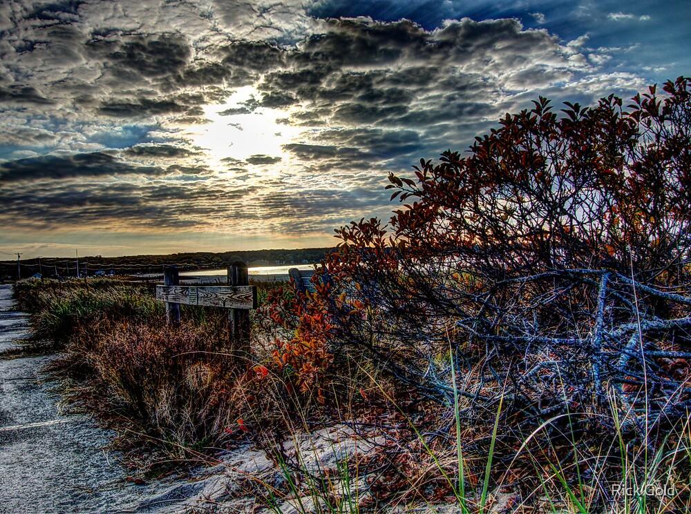 October Sunset at Noyac Bay by Rick Gold