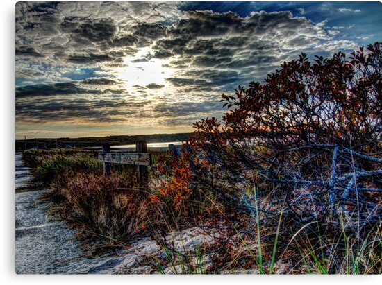 October Sunset at Noyac Bay by Rick Gold