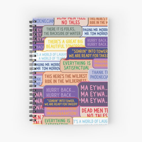 Ride Quotes Collage Spiral Notebook
