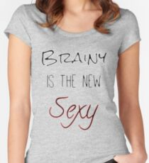 Brainy Is The New Sexy Women's Fitted Scoop T-Shirt