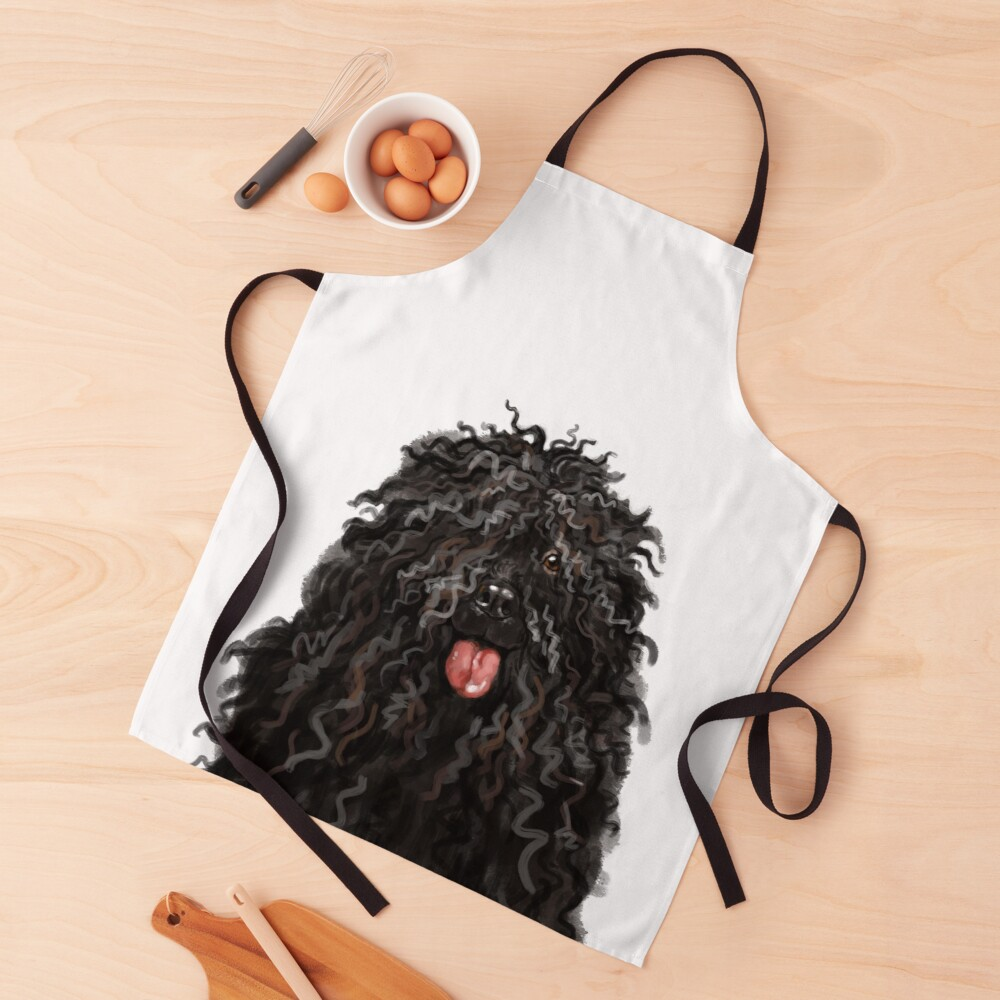 Black Puli Dog Apron