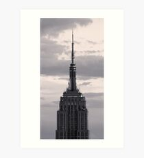 Empire State Building in black and white Art Print