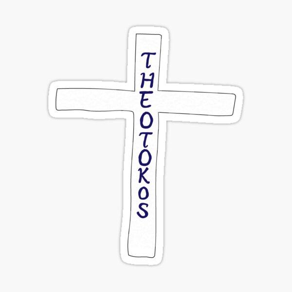 Theotokos Cross Sticker