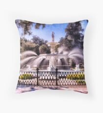 Forsyth Park Fountain Throw Pillow