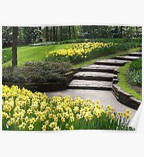 Steps into spring - Keukenhof (NL) Poster