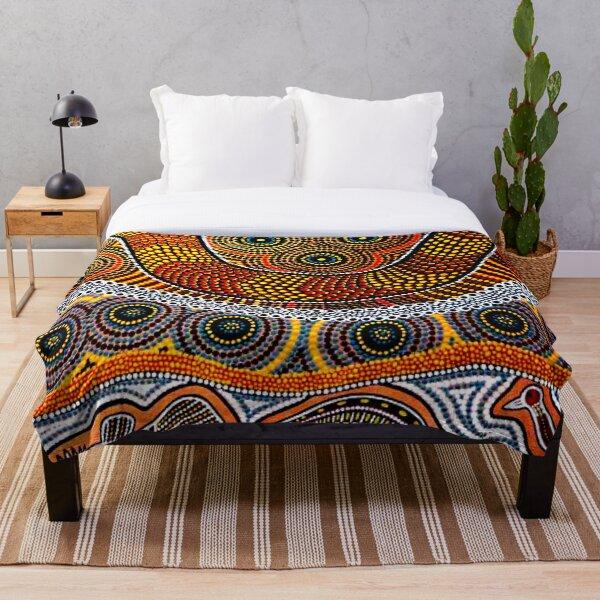 Aboriginal dot art  Throw Blanket