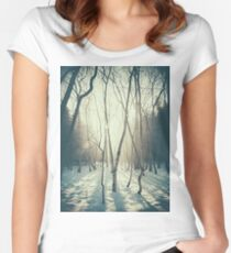 Peaceful Forrest Women's Fitted Scoop T-Shirt