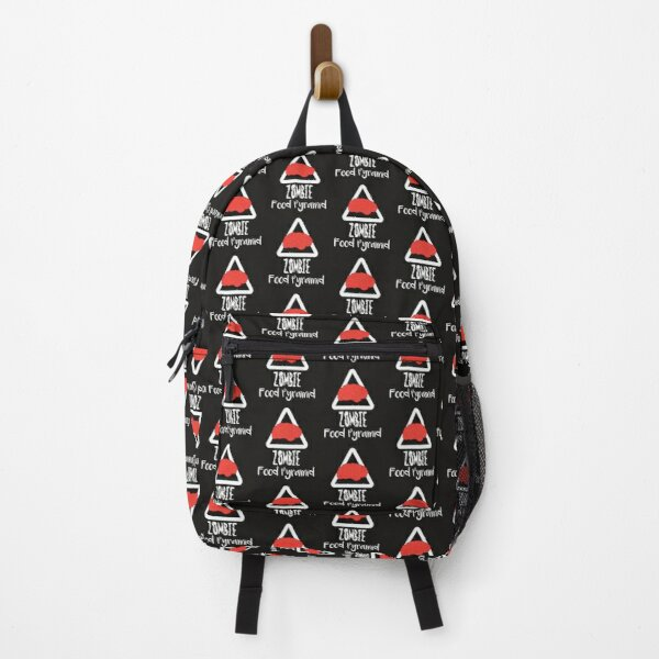 Zombie Food Pyramid Brains Backpack