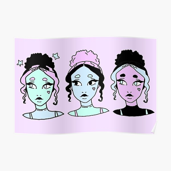 Aesthetic E Girl Wall Art Redbubble