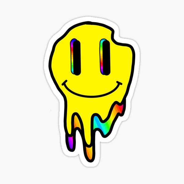 sonrisa trippy Pegatina