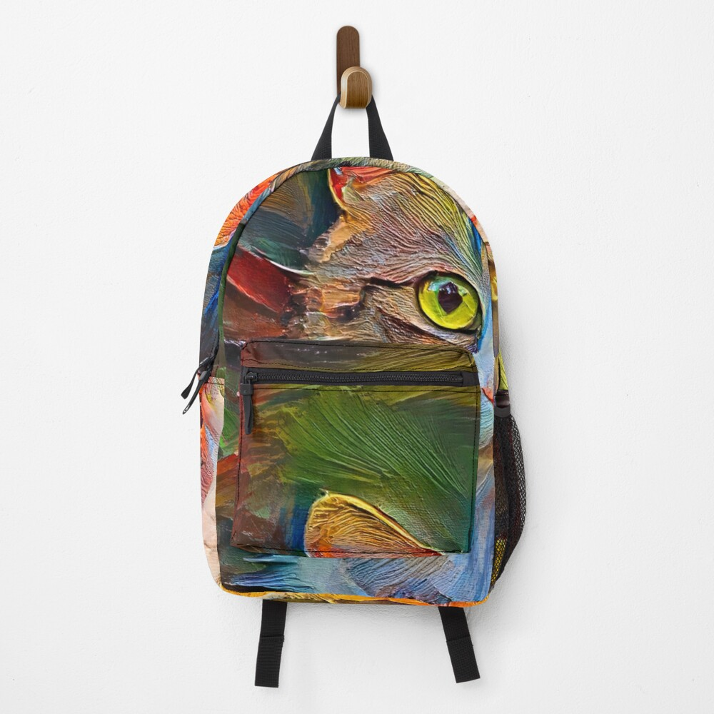 Abstractions of abstract cat Backpack