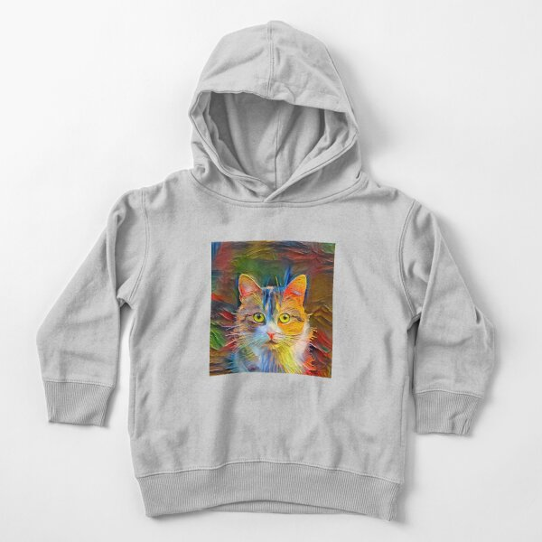Abstractions of abstract cat Toddler Pullover Hoodie