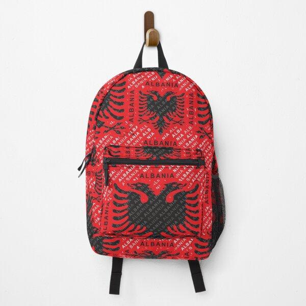 Albanian flag pattern 2 Backpack