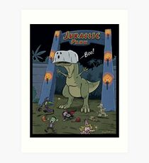 Jurassic Park Halloween Art Print