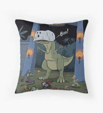 Jurassic Park Halloween Throw Pillow