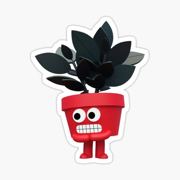 Nervous Plant Sticker