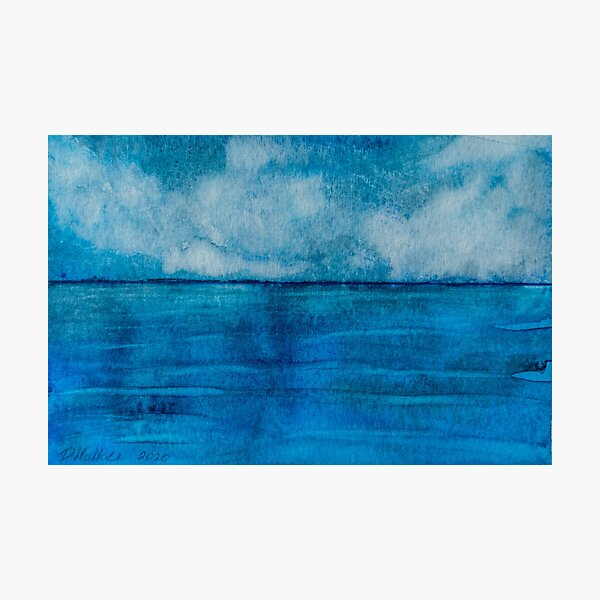 Blue sea with clouds Photographic Print