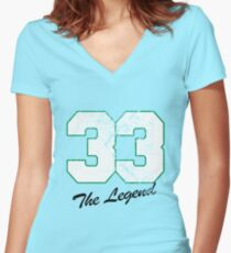 Celtics Number - No. 33 Women's Fitted V-Neck T-Shirt