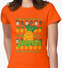 Psych TV Show Shawn Gus Pineapple Holiday Theme Womens Fitted T-Shirt