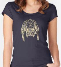 One Line Predator Portrait (white) Women's Fitted Scoop T-Shirt