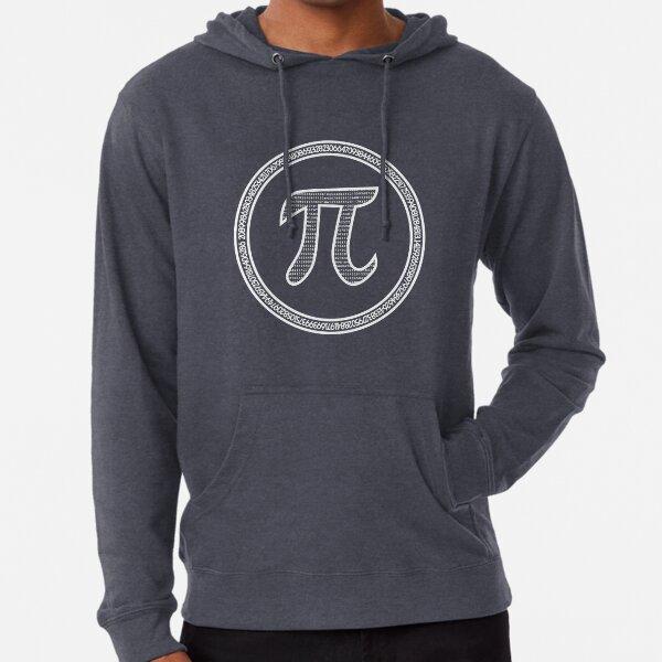 Pi π circle black Lightweight Hoodie