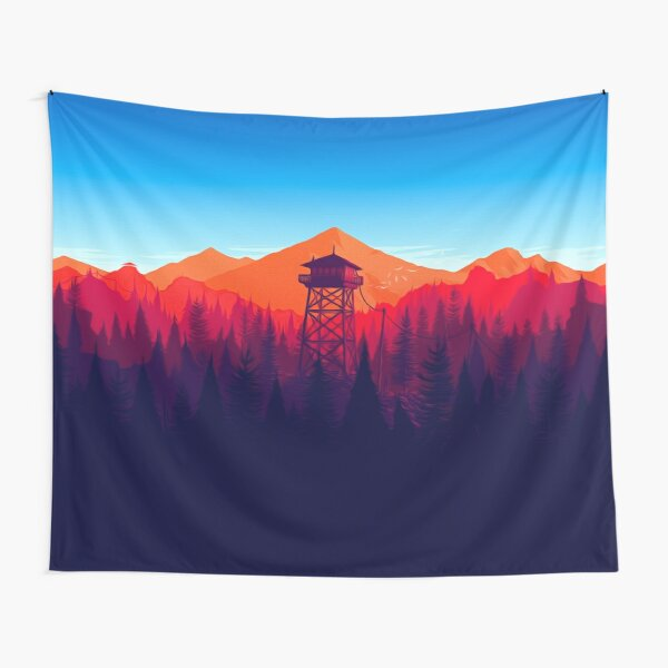 Forest Tower Tapestry