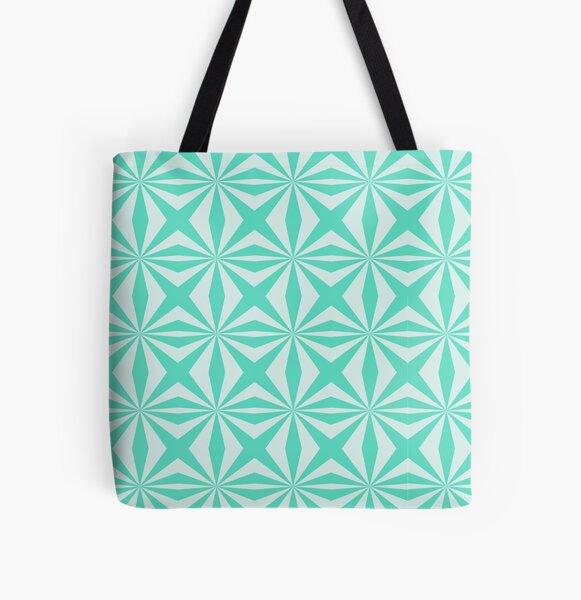 Retro Geometric Pattern All Over Print Tote Bag