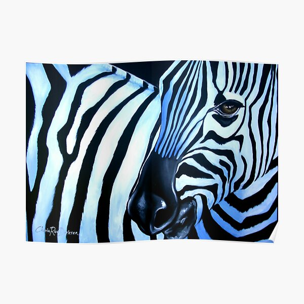 That Zebra Look Poster