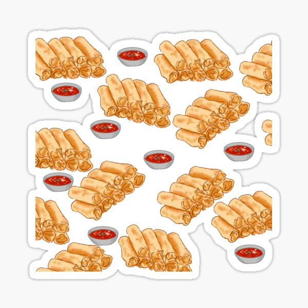 Chả Giò (Spring Rolls) and Dipping Sauce Sticker