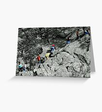 The Billy Goat Trail - Selective Coloring Greeting Card