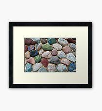 Stones of Color Framed Print