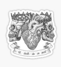 'Til Death Do Us Part, Life and Death Illustration Sticker